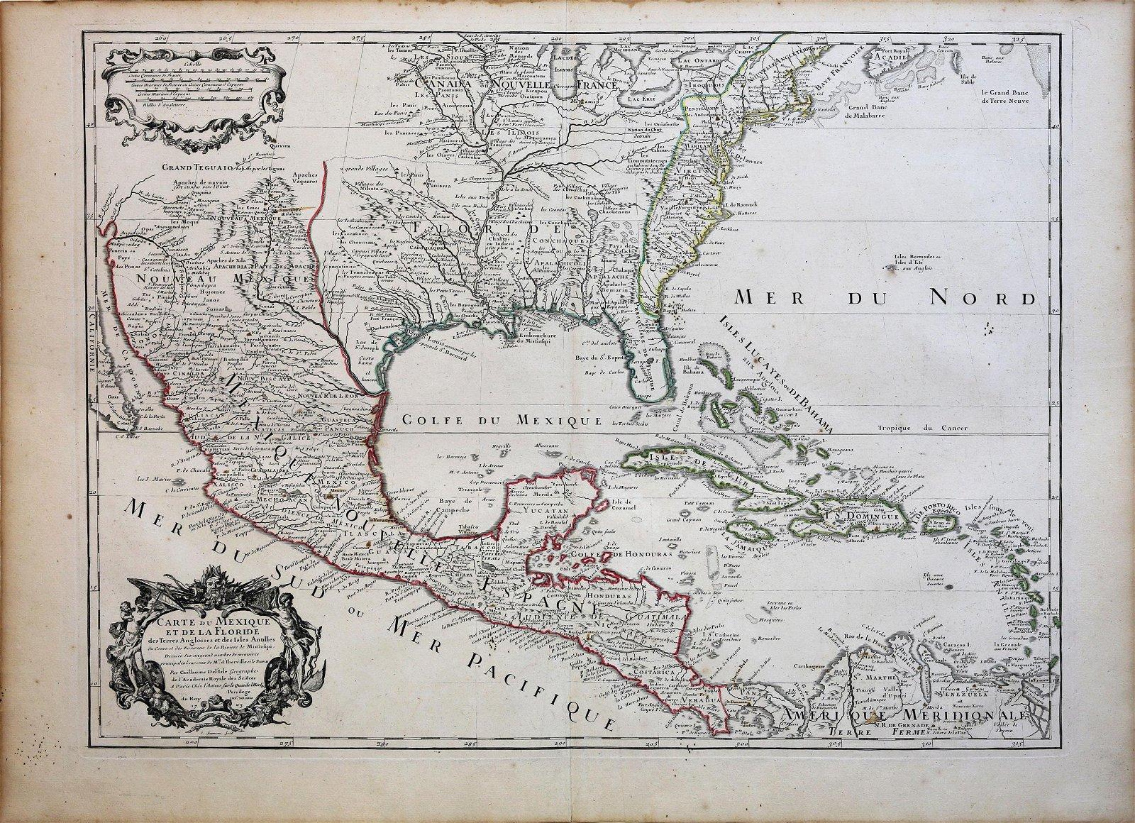 De L'Isle Carte du Mexique