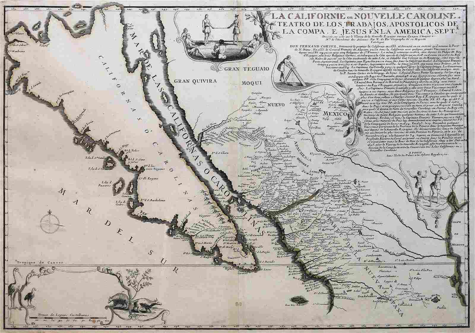 De Fer Map of California, 1720