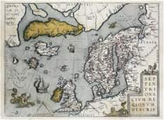 Oretelius Map of Scandanavia