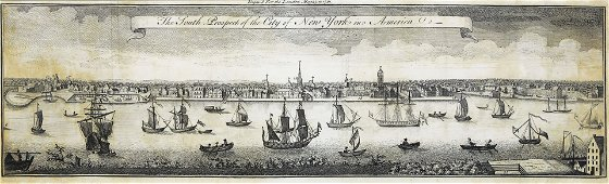 View of the South Prospect of New York City