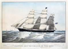 Brown Clipper ship Sovereign of the Seas