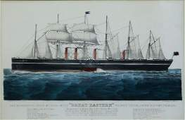 Currier  Ives Great Eastern maritime lithograph