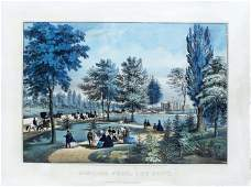 Currier & Ives, Central Park, the drive