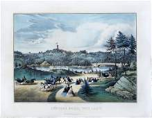 Currier  Ives Central Park the lake