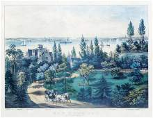 Currier  Ives New York Bay from Bay Ridge