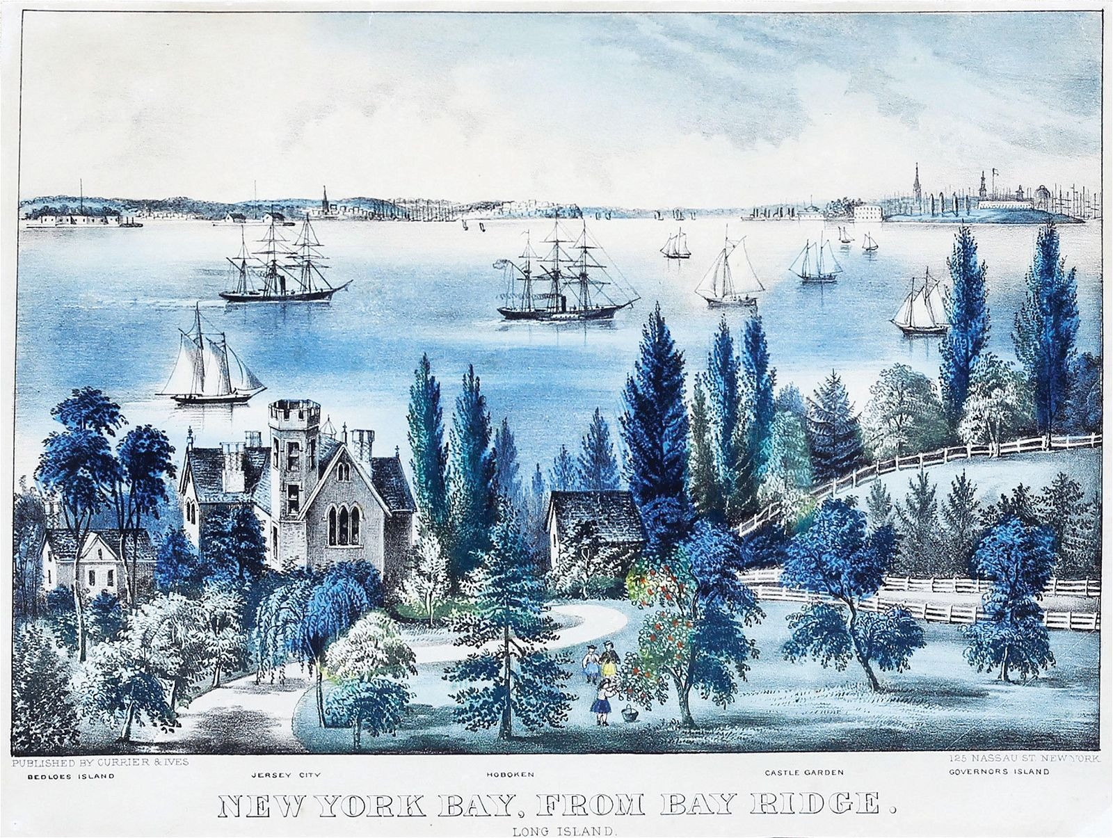 Currier & Ives, New York Bay from Bay Ridge