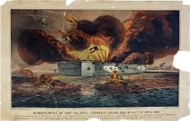Currier  Ives Fort Pulaski Cockspur Island