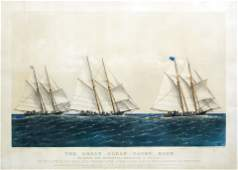 Currier & Ives, Great Ocean Yacht Race