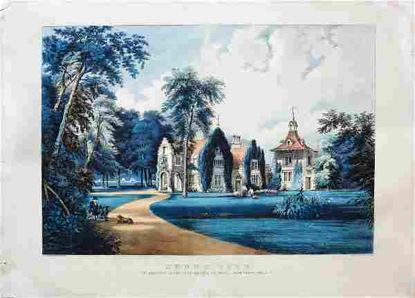 Currier & Ives Lithograph of Sunny Side
