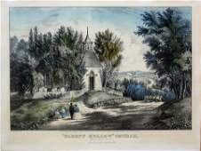 Currier  Ives Lithograph of Sleepy Hollow