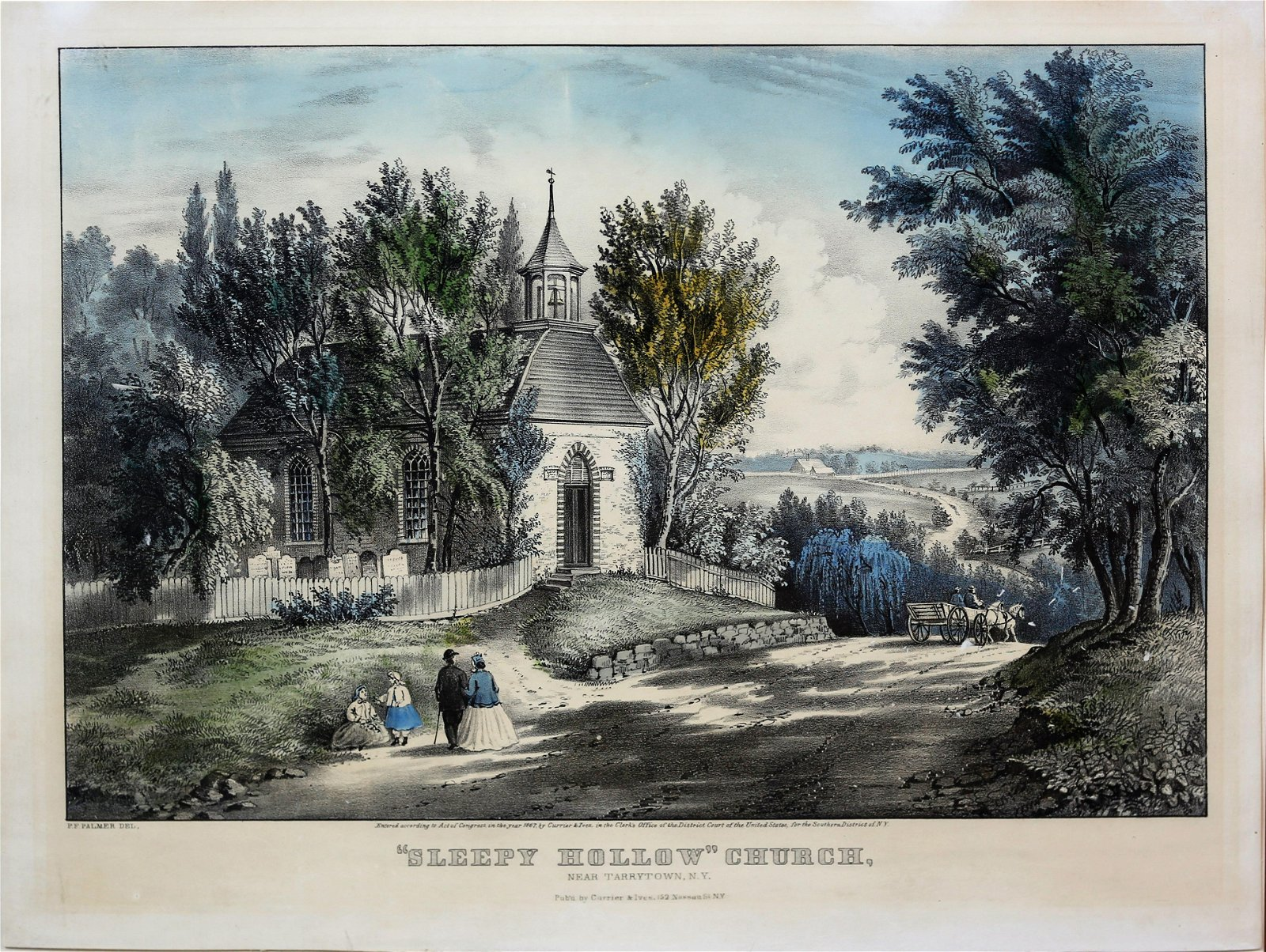 Currier & Ives Lithograph of Sleepy Hollow