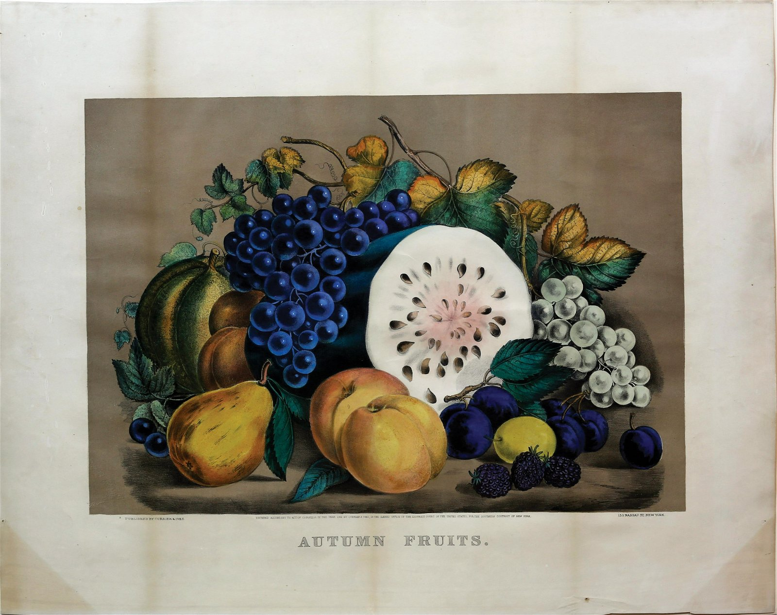 Currier & Ives Autumn Fruits