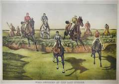 Currier  Ives Horse Racing Lithograph