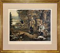 Hunting Lithograph