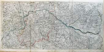 Delisle Map of the Rhine