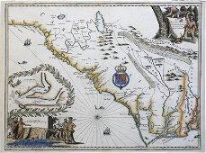 Ogilby & Moxon Map of Carolina