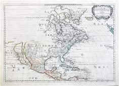Sanson Map of North America