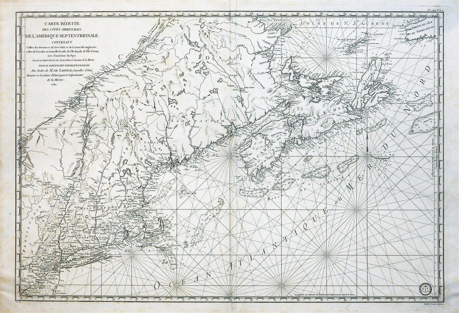 Sartine Map of Canada