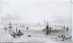 Hill Watercolor of Boston