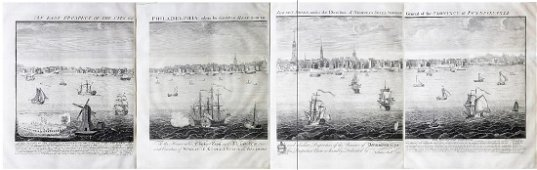 Heap & Scull View of Philadelphia, 1754 Large Copy