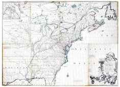 Mitchell Map of America, 1755 First Edition