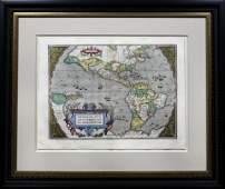 Ortelius Map of the Americas