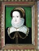 Clouet Oil of  Catherine de Medici Queen of France