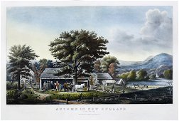 Currier & Ives, Autumn in New England. / Cider Making