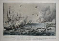 Currier & Ives, Bombardment and Capture of the Forts at