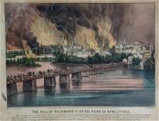 Currier & Ives, Fall of Richmond Va