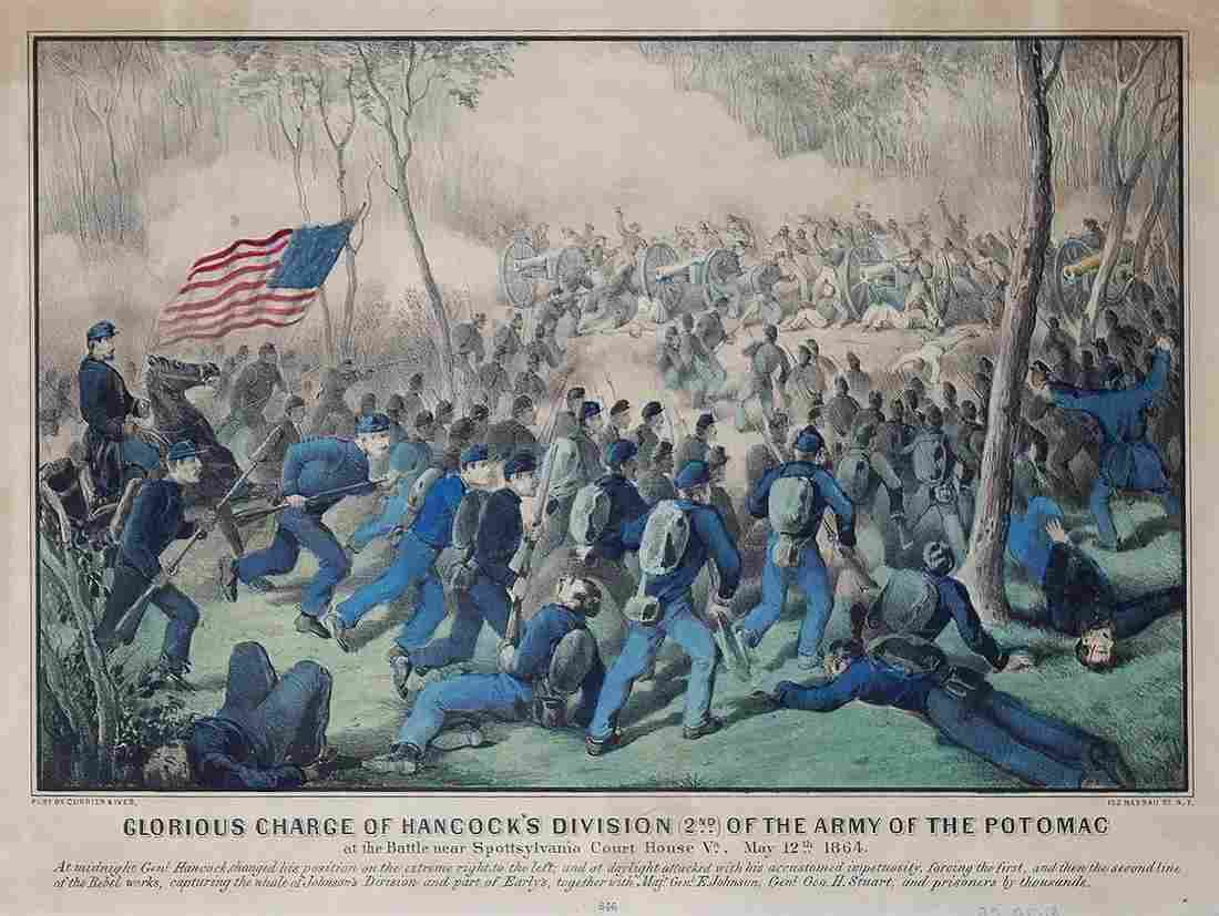 Currier & Ives, Glorious Charge of Hancock's Division