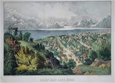 Currier  Ives Great Salt Lake Utah