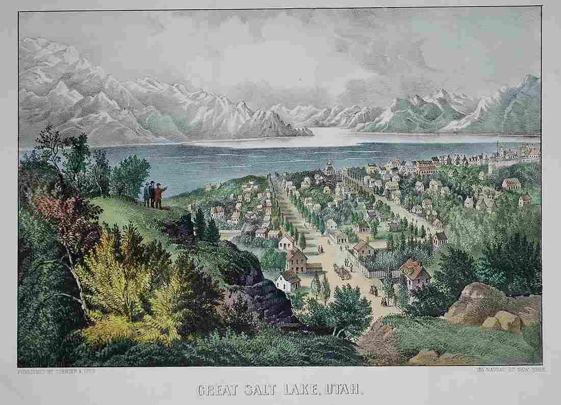 Currier & Ives, Great Salt Lake, Utah