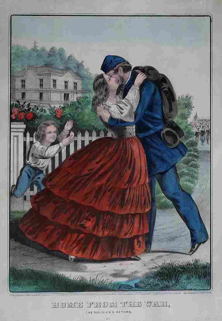 Currier & Ives, Home from War: The Soldier