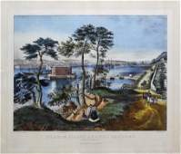 Currier  Ives Staten Island and the Narrows