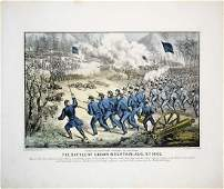 Currier & Ives, The Battle at Cedar Mountain, VA