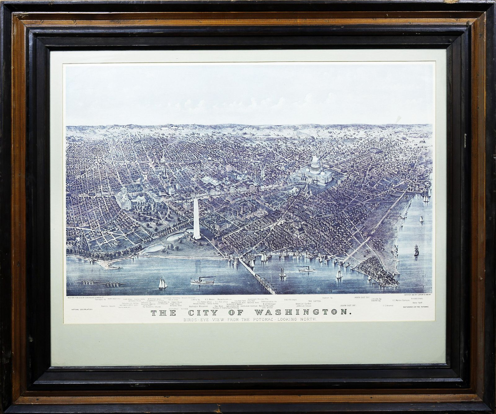 Currier & Ives, The City of Washington (Repro)