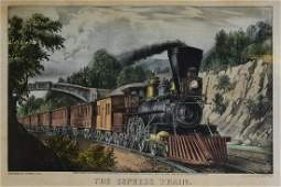Currier  Ives The Express Train