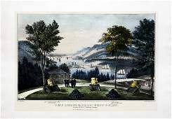 Currier  Ives The Hudson From Westpoint