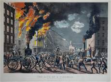 Currier  Ives The Life of a Fireman The New Era