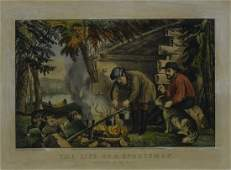 Currier & Ives, The Life of a Sportsman. Camping in the
