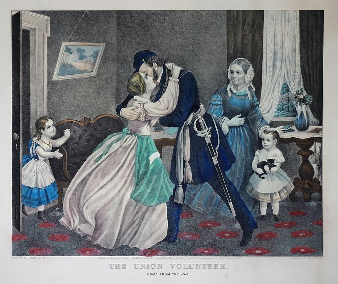 Currier & Ives, The Union Volunteer: Home from the War.