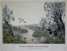 Currier  Ives Wild Duck Shooting