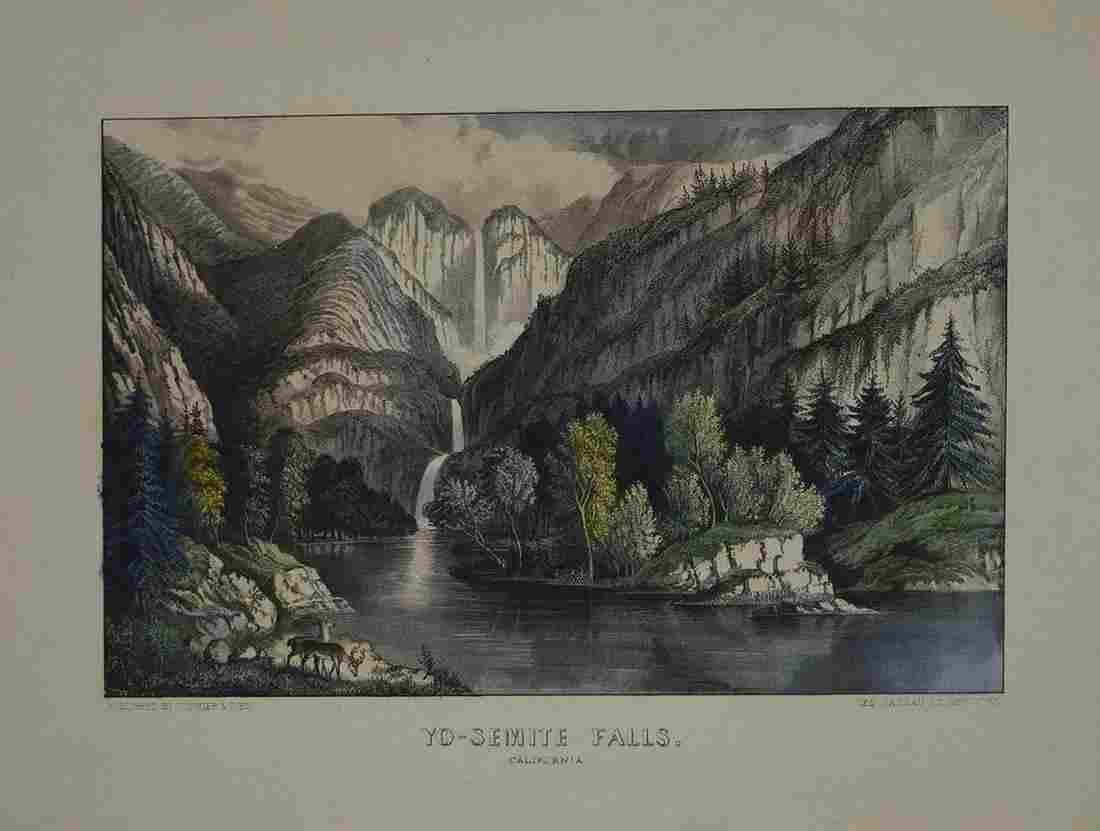 Currier & Ives, Yo-Semite Falls. California.
