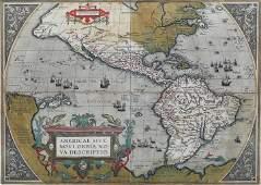 Ortelius Map of America 1593 State 3