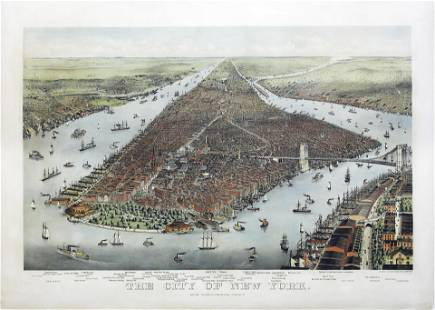 Currier & Ives Large Folio of the City of New York