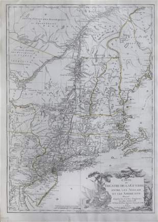 De La Tour Revolutionary War Map
