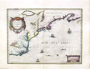 Janssonius Map of Nova Anglia