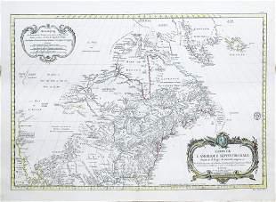 Bellin Map of North America