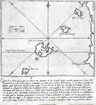 Lafreri Map of St. Thomas off the coast of Africa